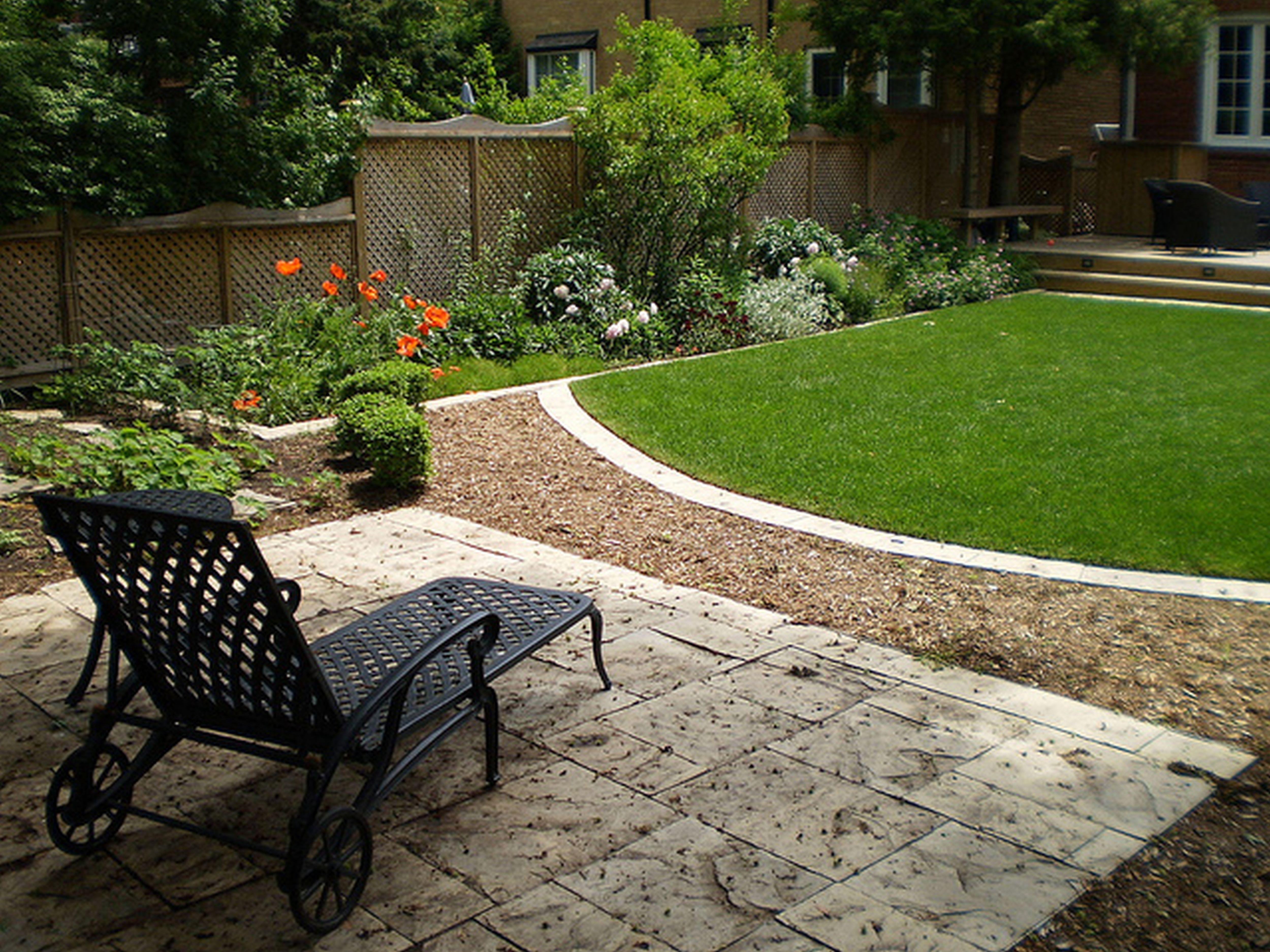 Small Landscaping Ideas Backyard Back Yard On A Budget Rectangular