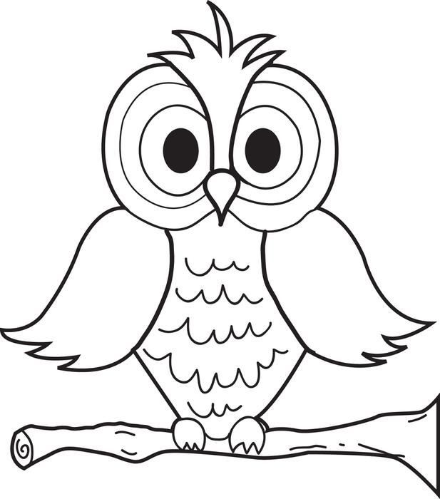 Cartoon Owl Coloring Page httpdesignkidsinfocartoon owl