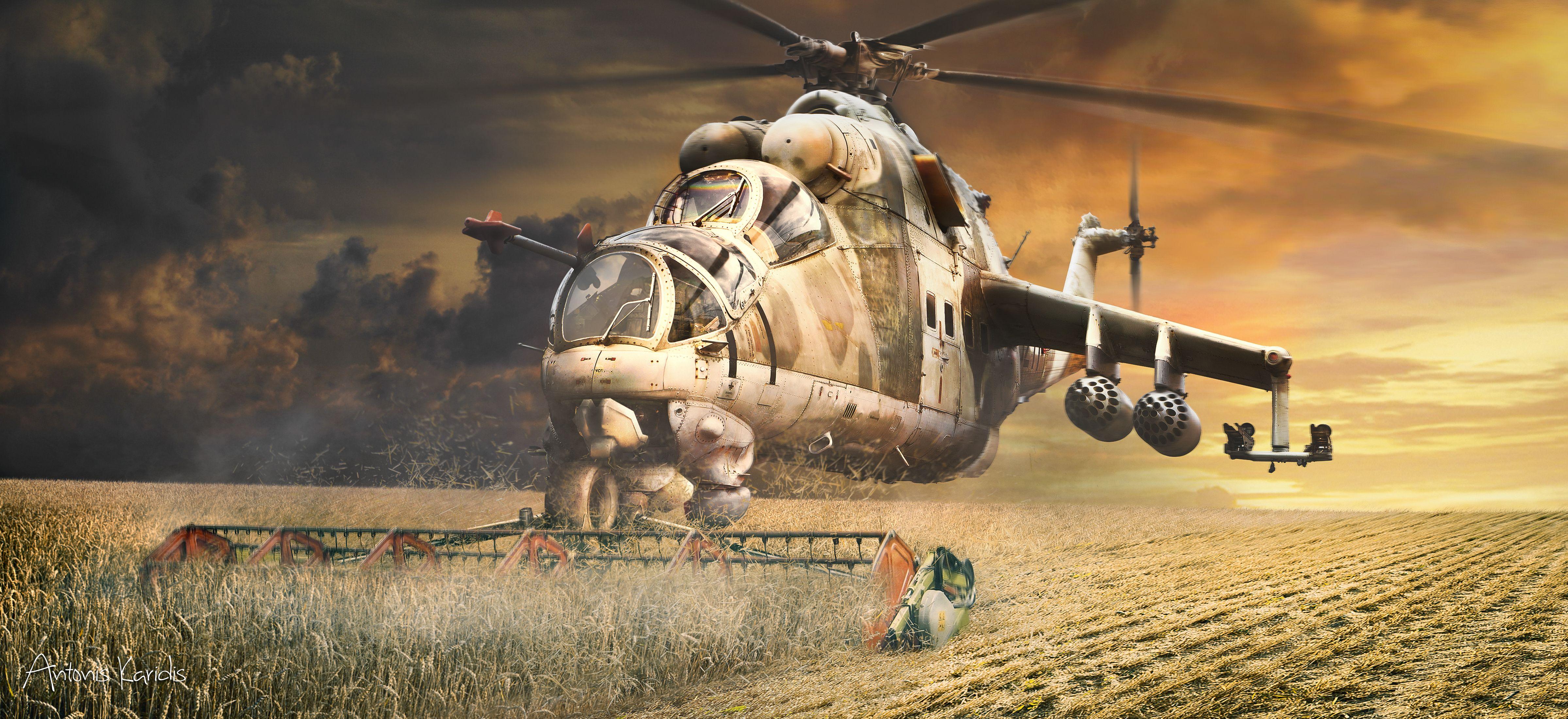 Обои боевой, вертолёт. Авиация foto 11