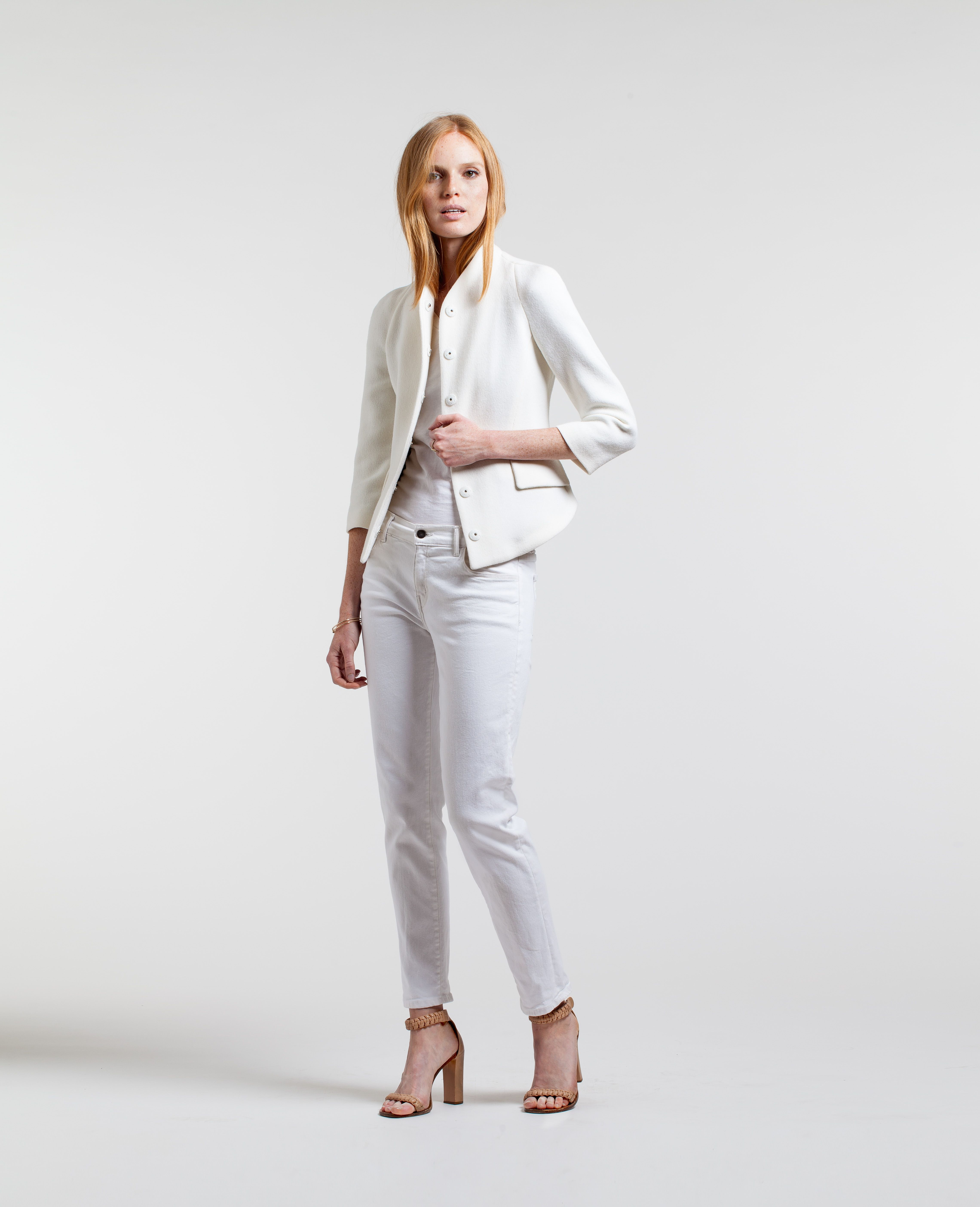 The Remy Boyfriend, our relaxed white jean.