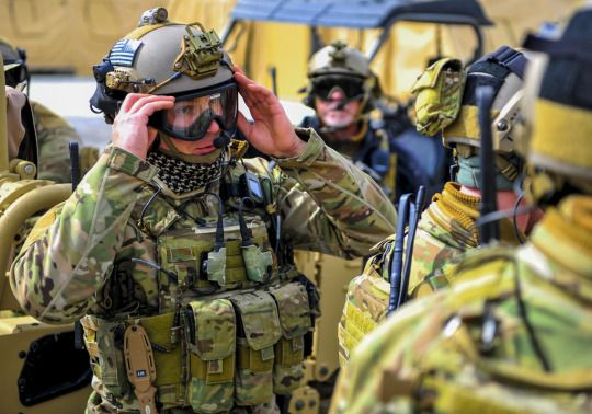 Special Tactics Airmen training on the use of tactical vehicles at Special Tactics Training Squadron, Hurlburt Field, Fla. February 3, 2015.