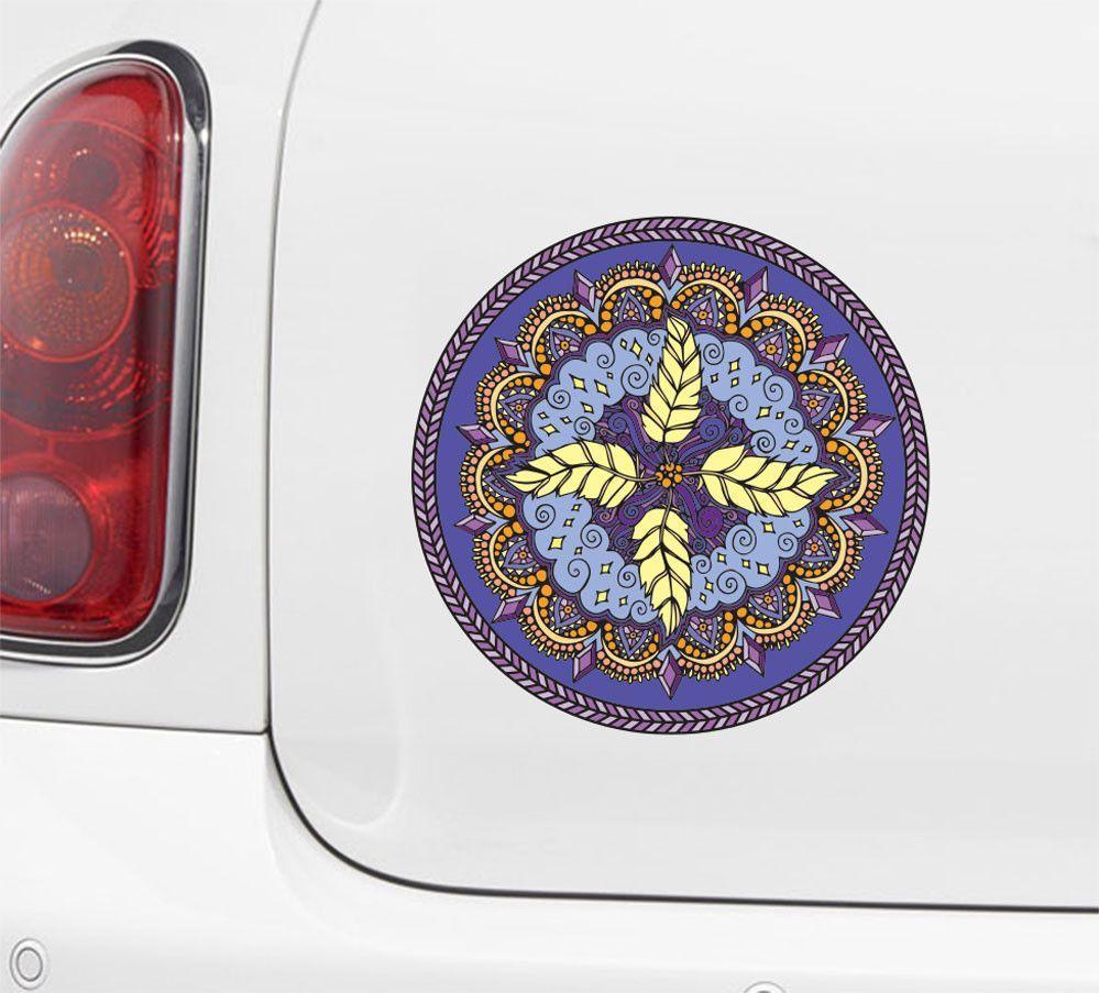 CLR:CAR - Element Mandalas - Car | Truck Vinyl Decal - © 2015 YYDC (Variations Available)