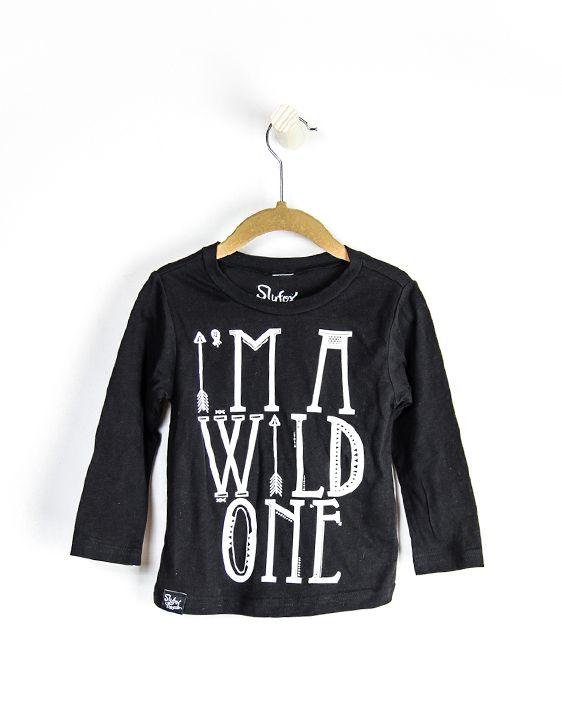 "2c47a2095ab Slyfox Threads "" Im a Wild One "" black long sleeve shirt. Okay, I totally  love this for Isla too!"