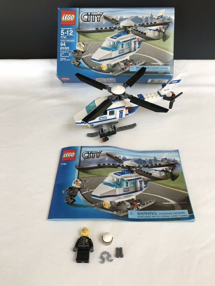 Lego City 7741 Police Helicopter 100 Complete W Box Manual Minifig Nice Afflink Contains Affiliate Links When You Click On Links To V Lego City Lego City Police Helicopter Lego City Police