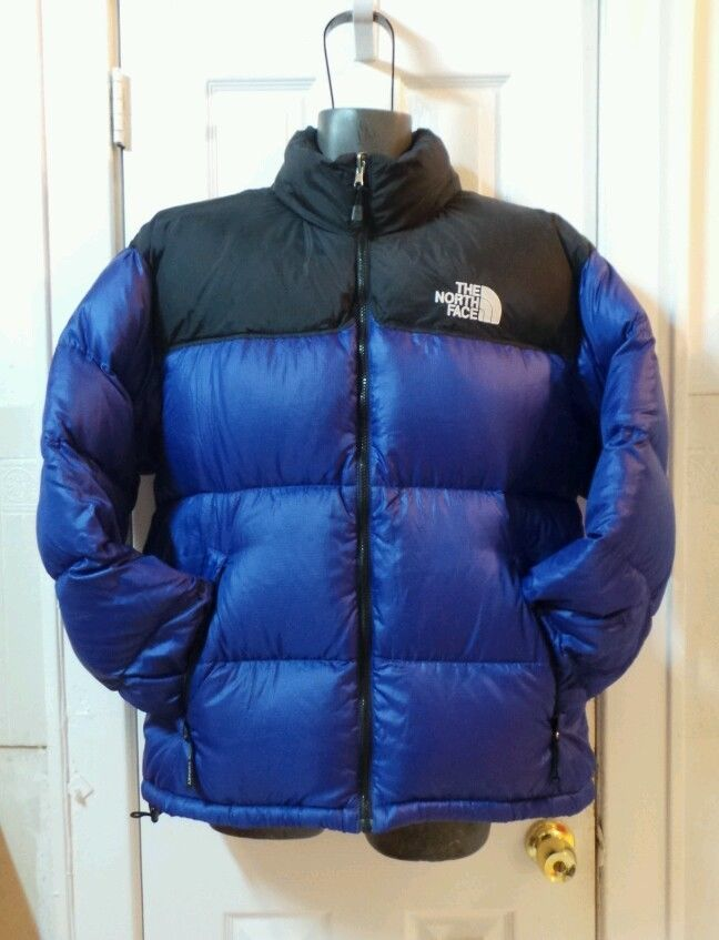 2e7ba1b52 Details about The North Face Men's Nuptse 700 Blue Navy Down Climing ...