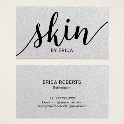 Skin care typography elegant esthetician business card salon salon skin care typography elegant esthetician business card colourmoves