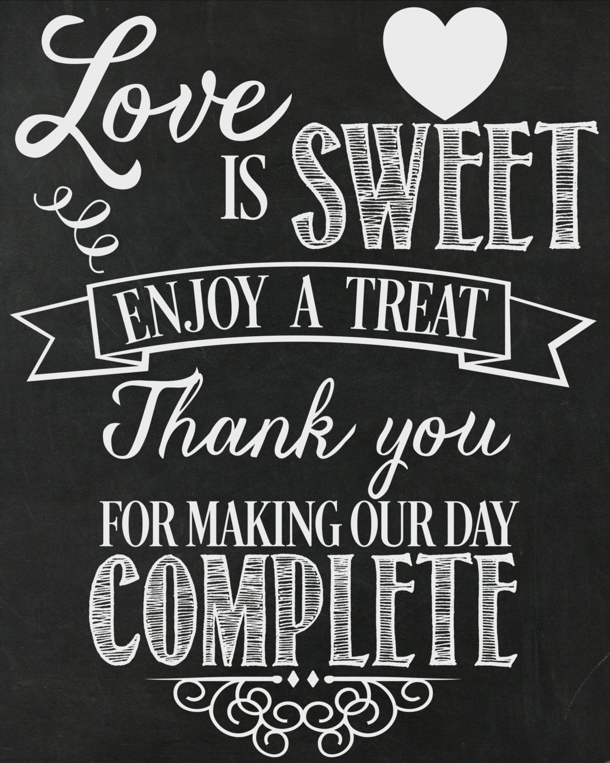 Enjoy A Treat Wedding Printable Sign Diy Dessert Table Treats Candy By Allseamssilly On Etsy