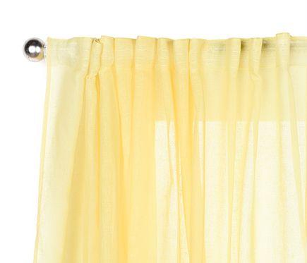 Inspire Visillo fruncido con trabillas Abby amarillo | living room