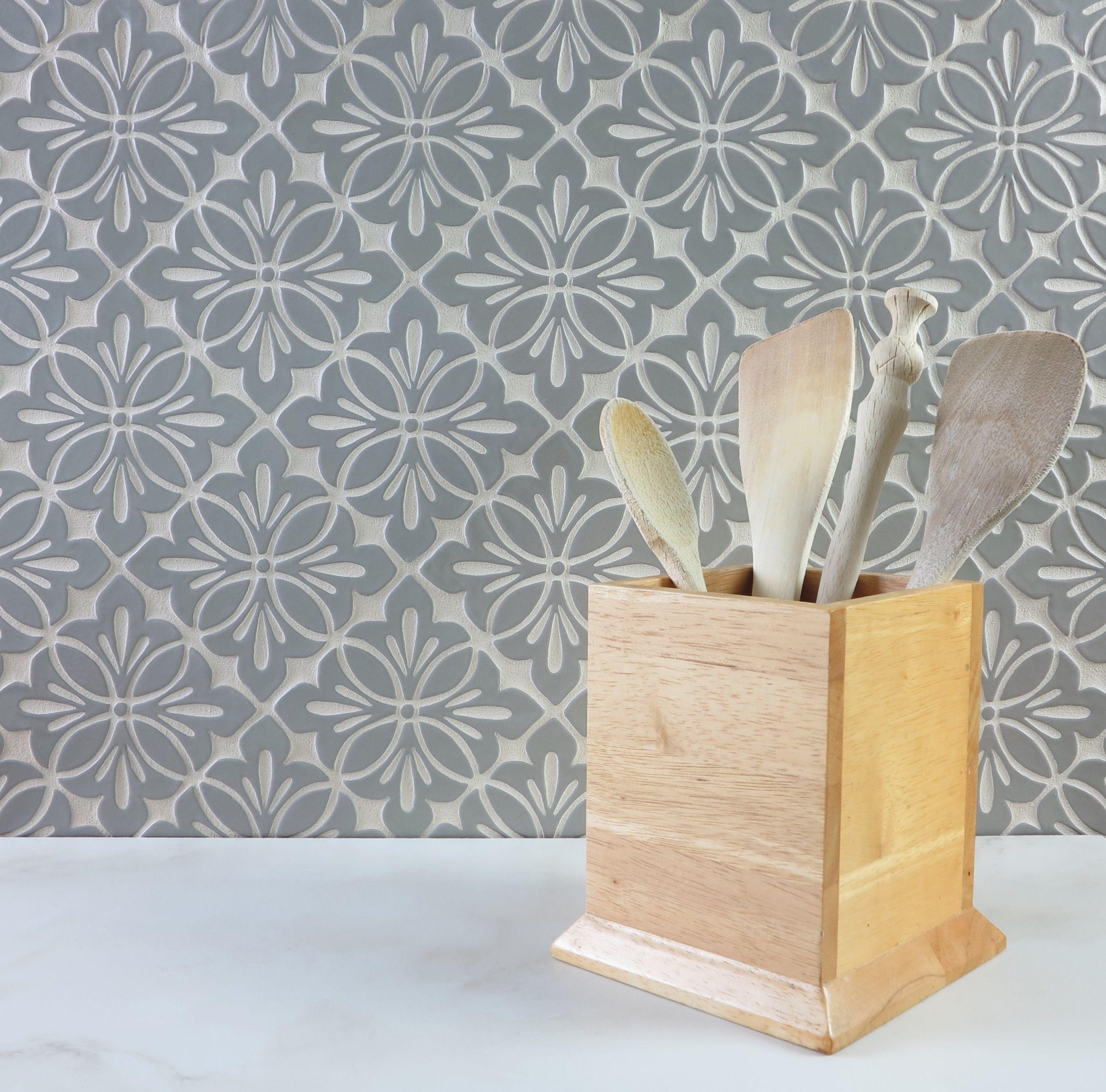 Julep Tile Company Cobham Pattern In Slate Gray