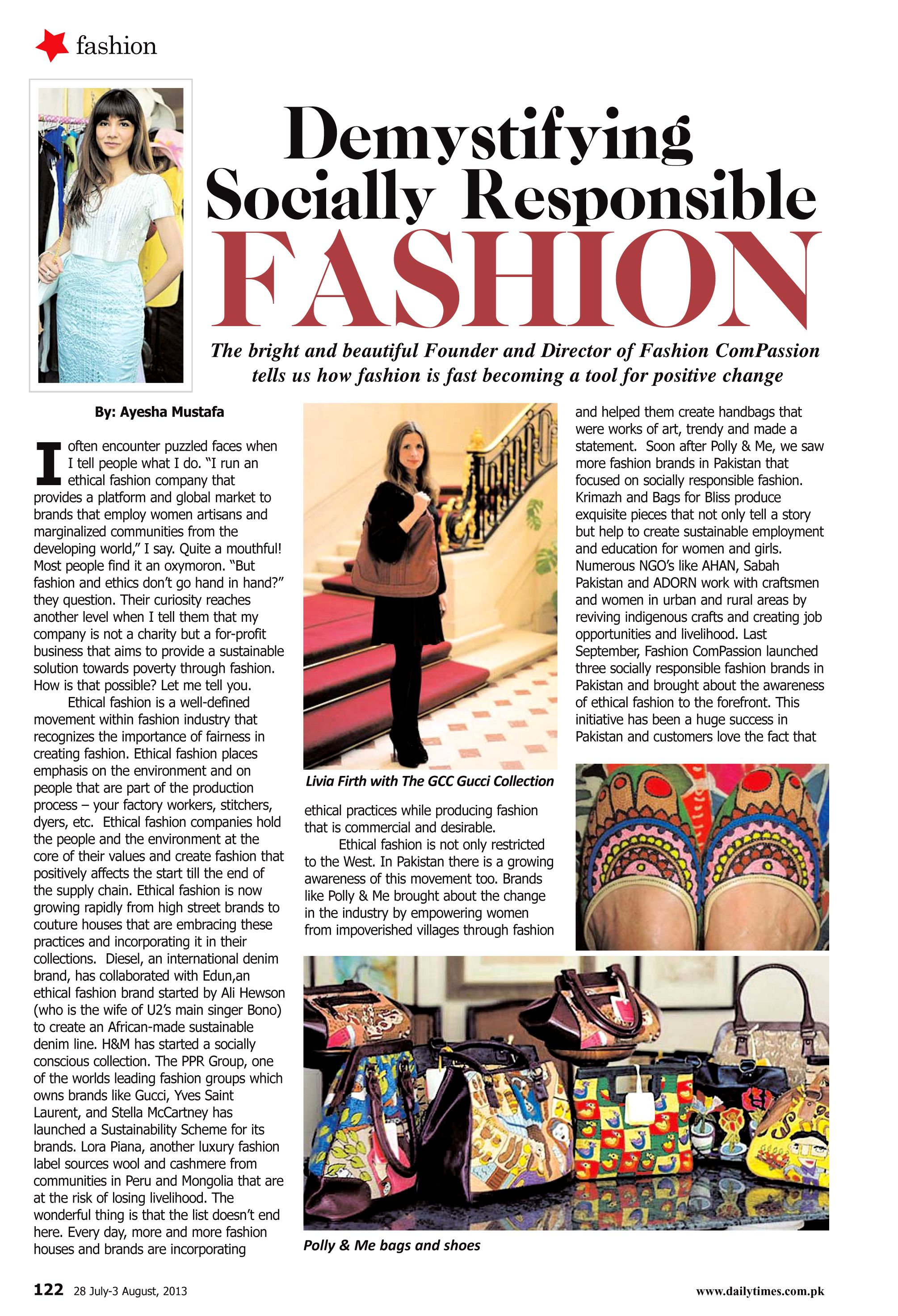 Fashion Compassion Article