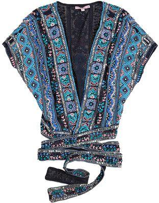 CALYPSO St. Barth Concetta Silk Kimono Jacket