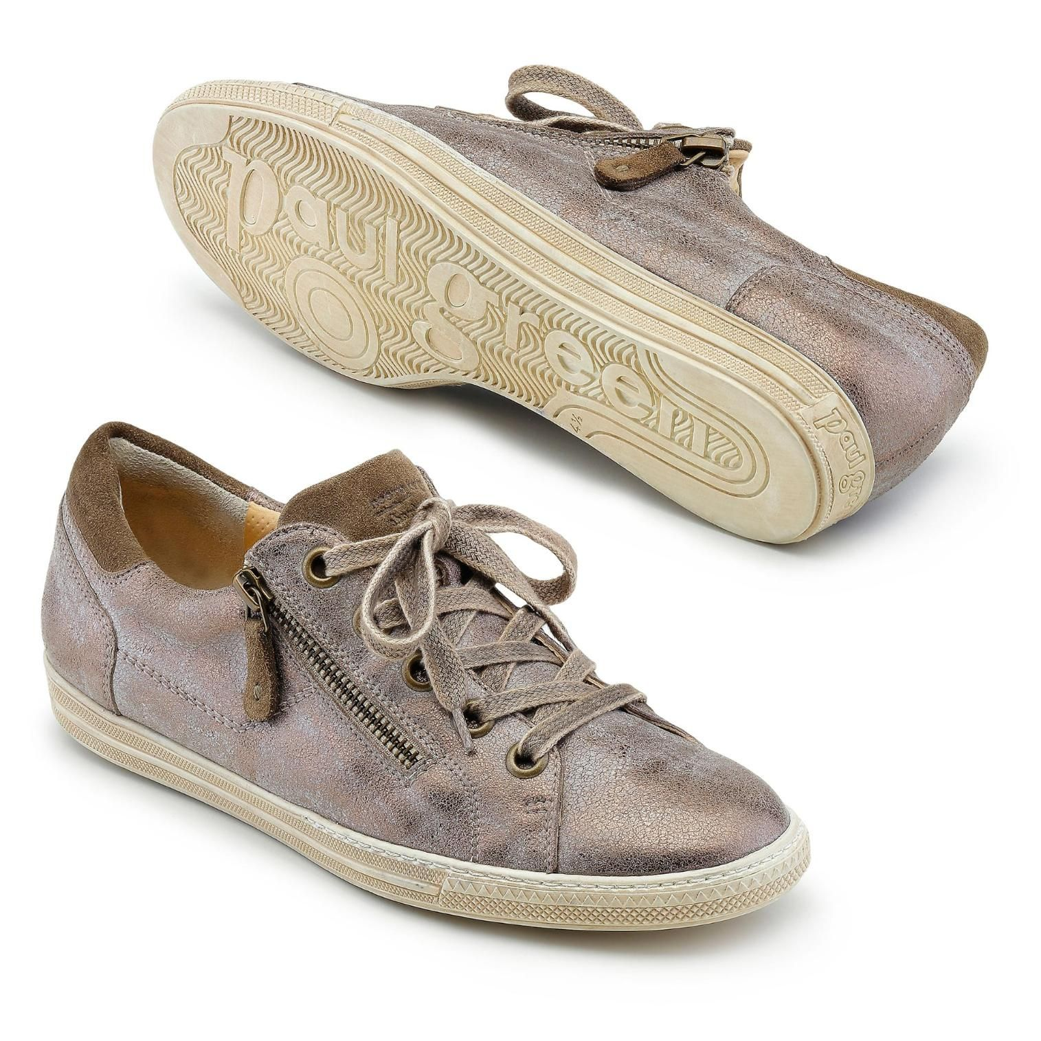 cheapest price pretty nice wide range Paul Green Sneaker taupe metallic | Shoes & Bags | Green ...