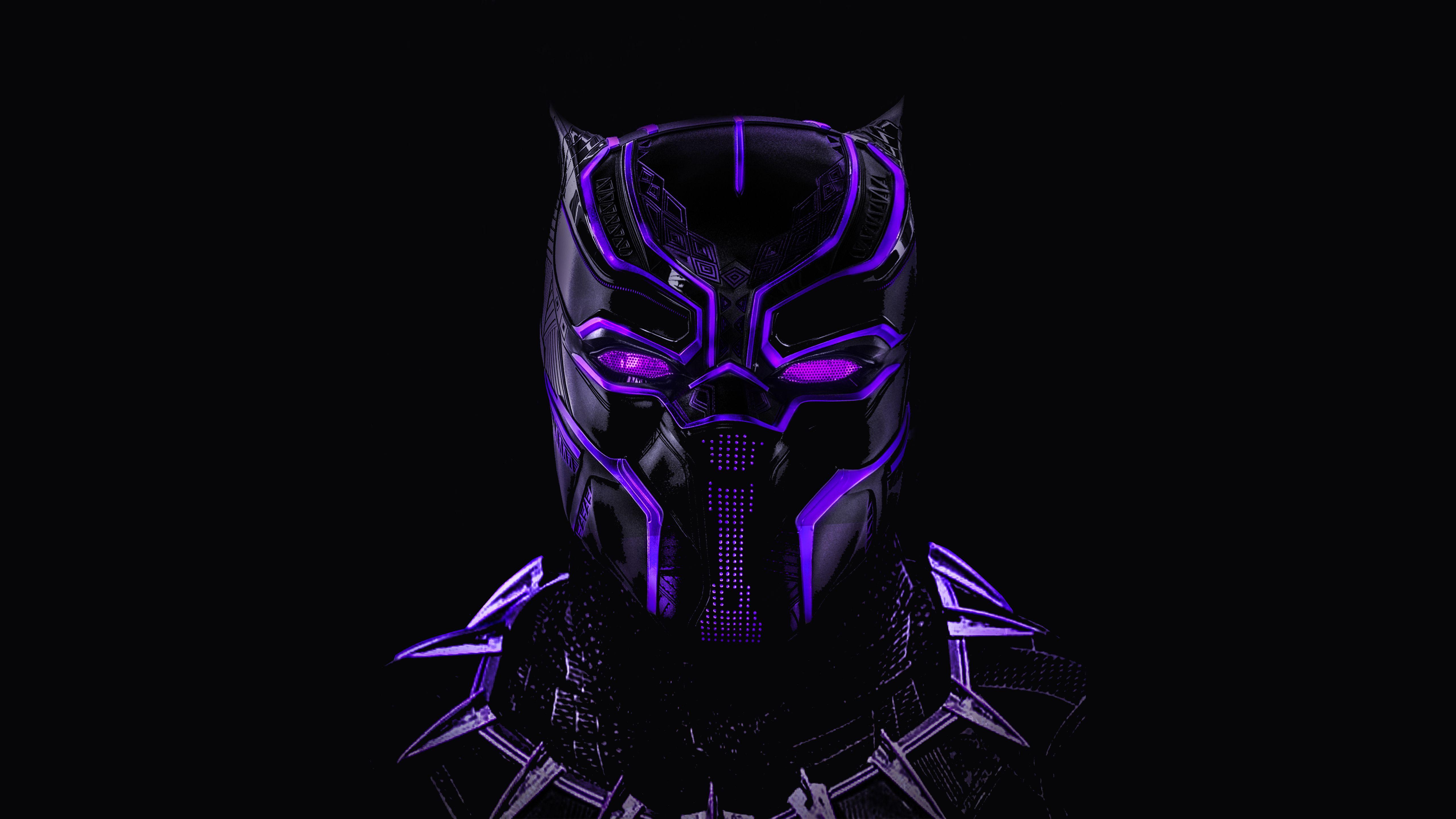 Black Panther Neon Artwork 5k Black Panther Hd Wallpaper Black Panther Art Neon Wallpaper
