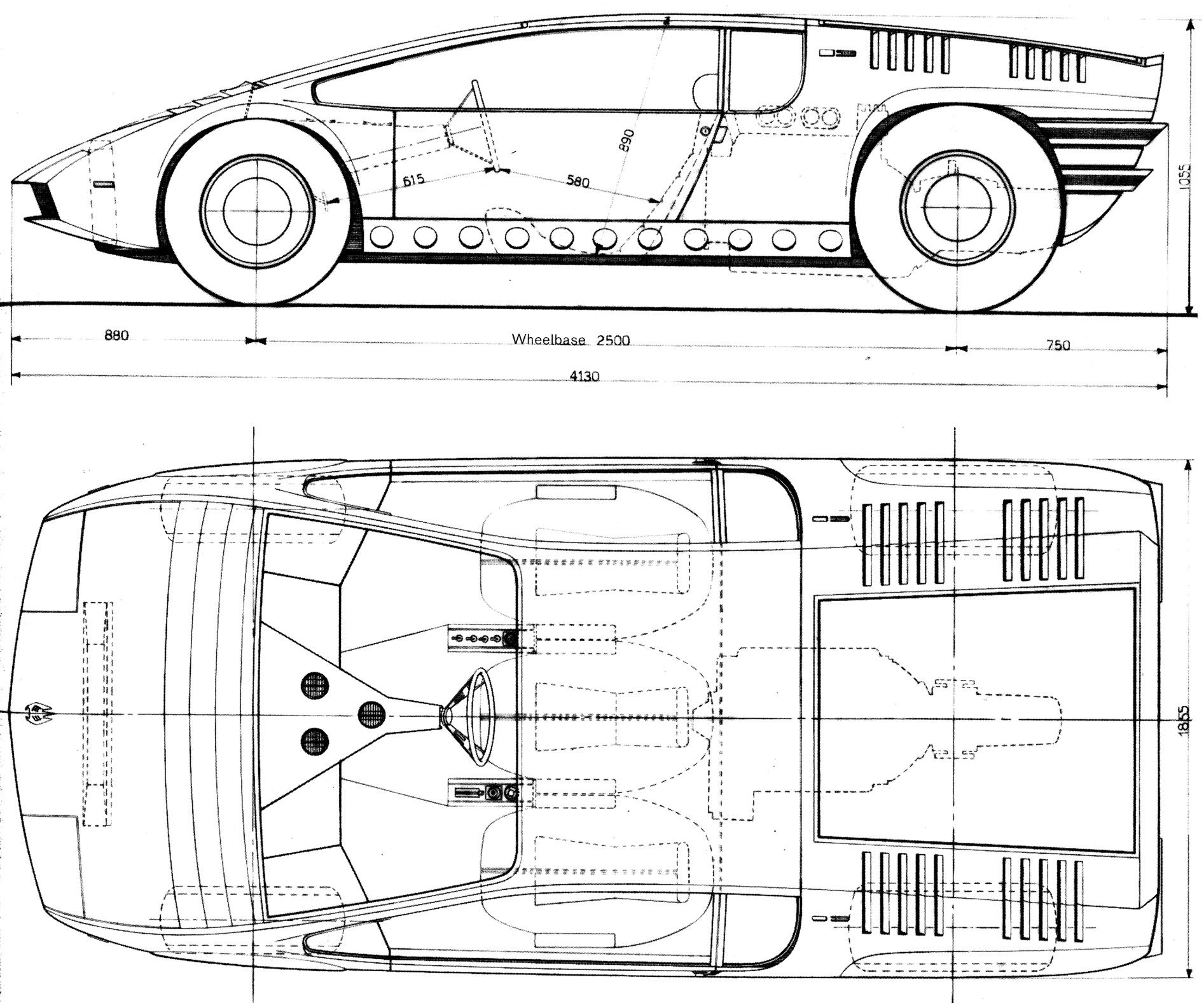Bizzarrini Manta Blueprint