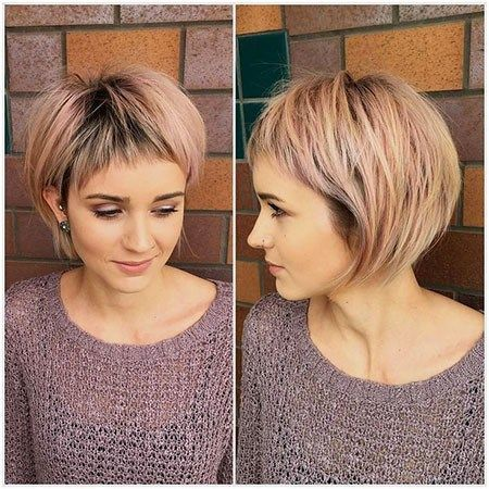Short Hairstyle For Older Woman With Fine Thin Hai