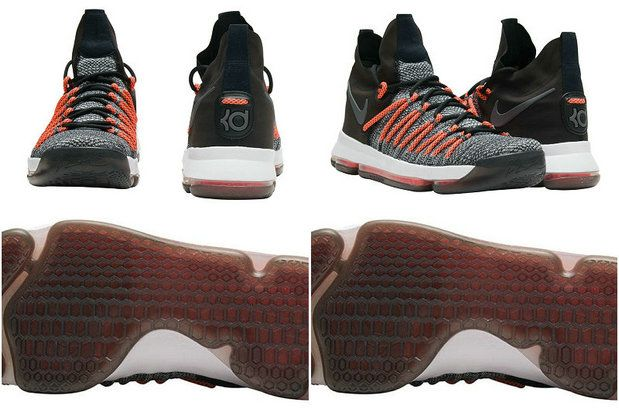 78635ddd5f6e0 Nike Cheap Kevin Durant KD 9 Elite Black White Dark Grey Hyper Orange 878637 -010 2018 Purchase