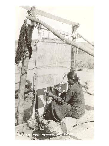 size: 24x18in Art Print: Navajo Rug Weaver : Entertainment