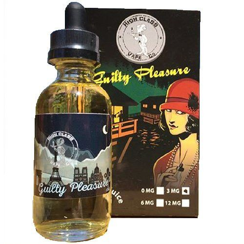 High Class Vape Co Guilty Pleasures 60ml - Feel the flavors tease your taste  buds and