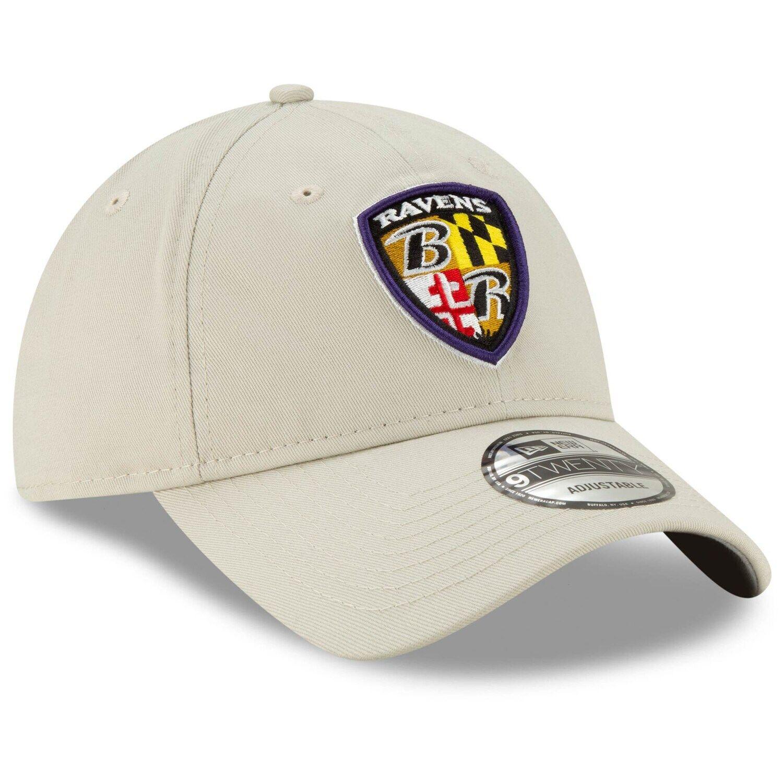 Men S New Era Khaki Baltimore Ravens Shield Playmaker 9twenty Adjustable Hat In 2020 Adjustable Hat New Era Khaki