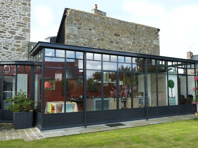 Véranda en acier véranda Pinterest Extensions, Verandas and Dining - extension maison prix au m
