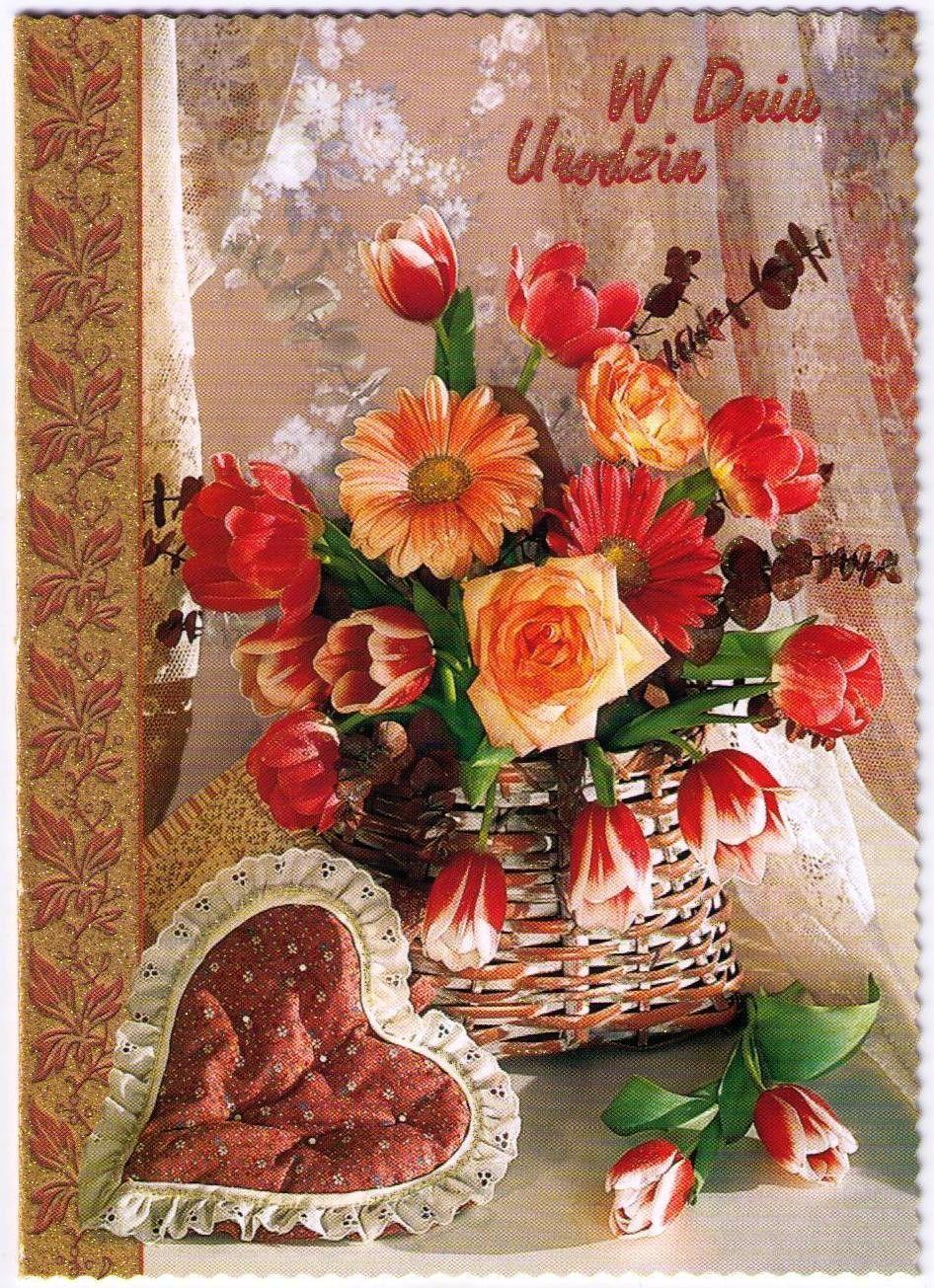 Polish Birthday Greeting Card – Polish Birthday Greeting
