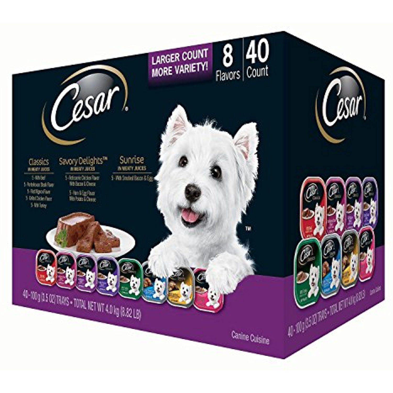 Cesar Canine Cuisine Wet Dog Food Variety Pack 3 5 Oz 40 Ct