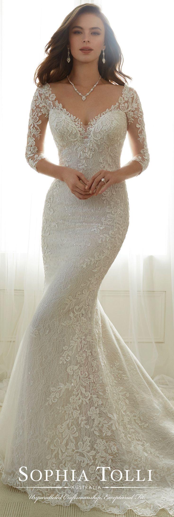 Tulle soft trumpet wedding gown sophia tolli y life