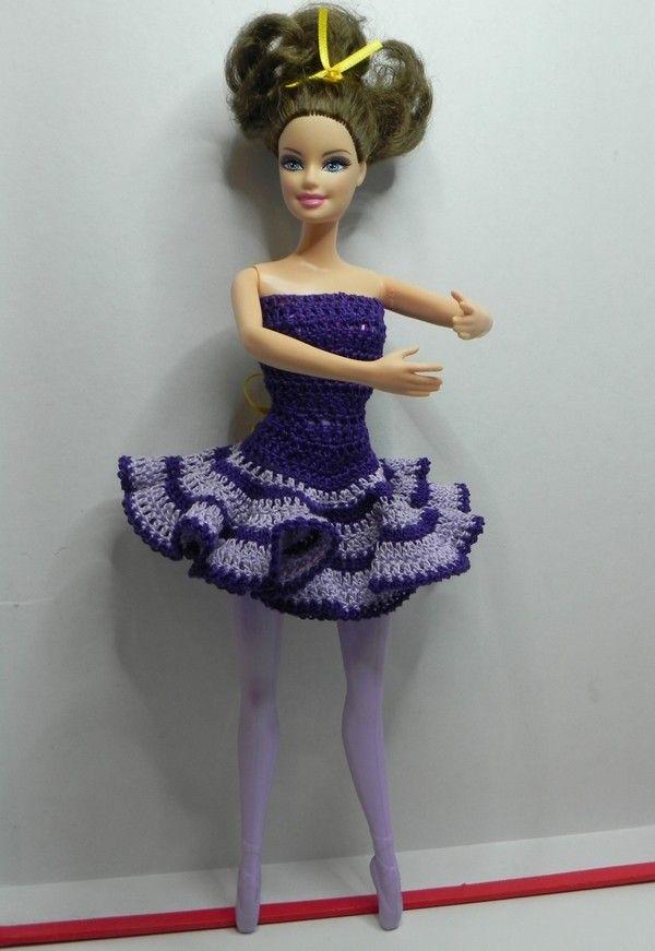 eBook: Ballerina Kleid für Barbie, Balletkleid häkeln   Theresas ...