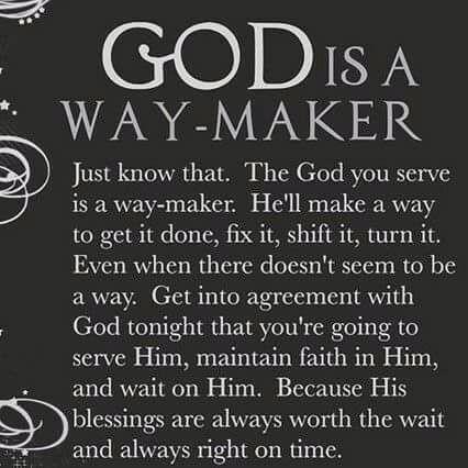 Image result for God is a Way-maker