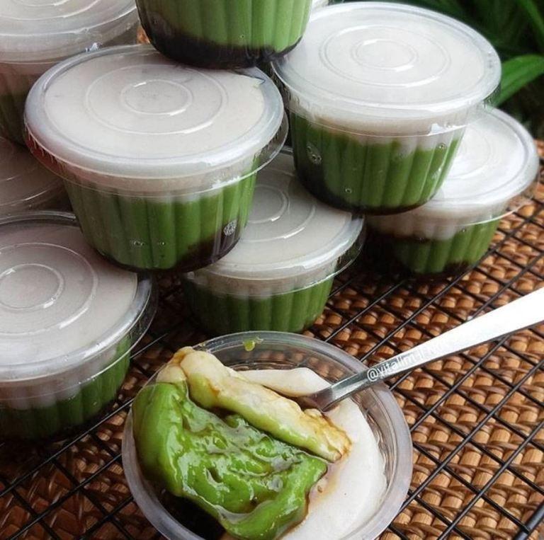 Resep Membuat Kue Jongkong Pandan Enak Mudah Dan Sederhana Iniresep Com Resep Makanan Resep Ide Makanan