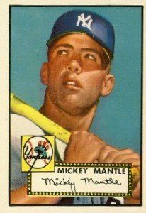 1952 Topps Mickey Mantle Rookie Card One Of The Most Iconic And Valuable Baseball Cards In Existence Topps B Mickey Mantle Baseball Cards Yankees Baseball