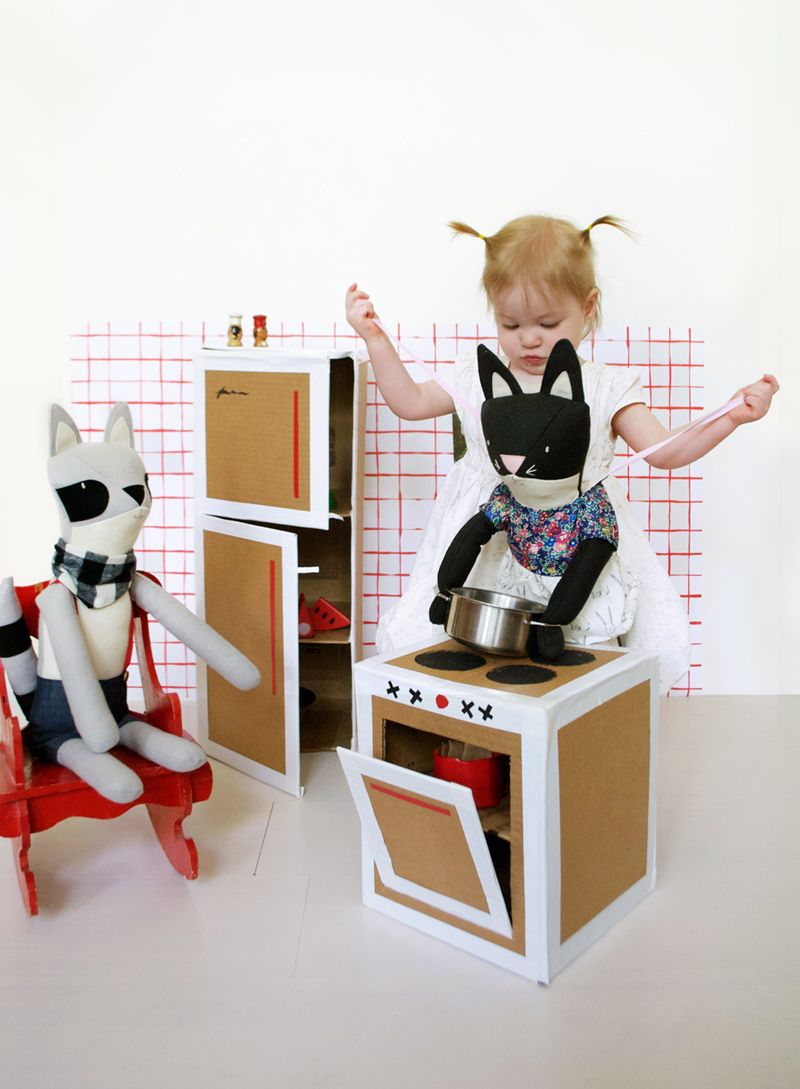 Simple Kitchen Set For Kids today we are sharing a simple kitchen set for kids play made with