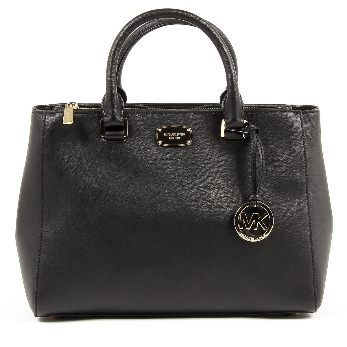 Michael Kors Womens Handbag KELLEN 35S6GS0T2L BLACK  b9ad500a1