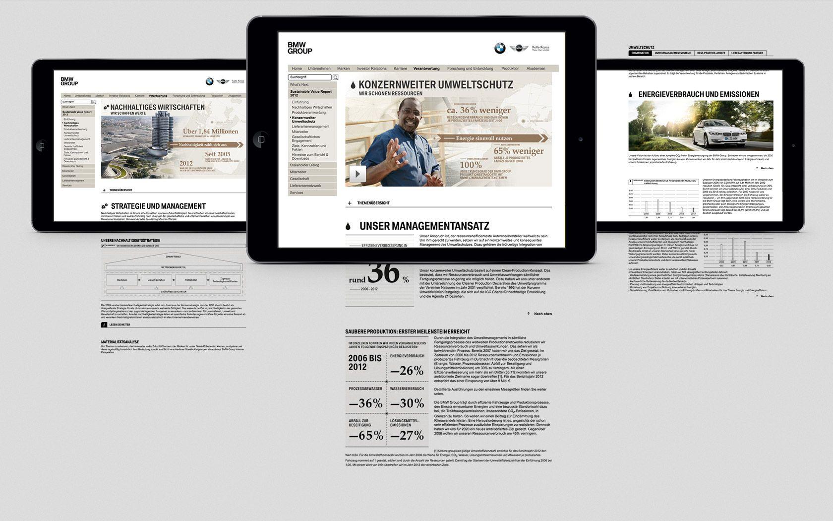 BMW Group Nachhaltigkeitskommunikation 2012 | STRICHPUNKT DESIGN