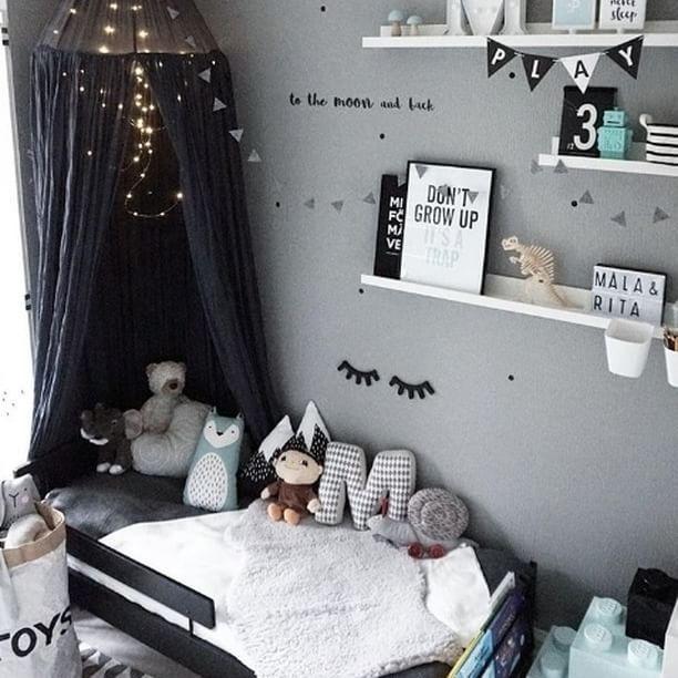 Habitaci n infantil bonita y original en tonos grises for Habitacion infantil original