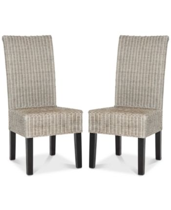 Shanley Dining Chair Set Of 2 Quick Ship Grey Wicker Dining Chairs Dining Chairs Clear Dining Chairs