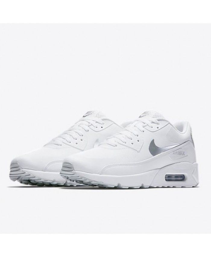 3d4bc1b032 Nike Air Max 90 Ultra 2.0 Essential Mens White Metallic Silver Mens  Trainers Sale UK