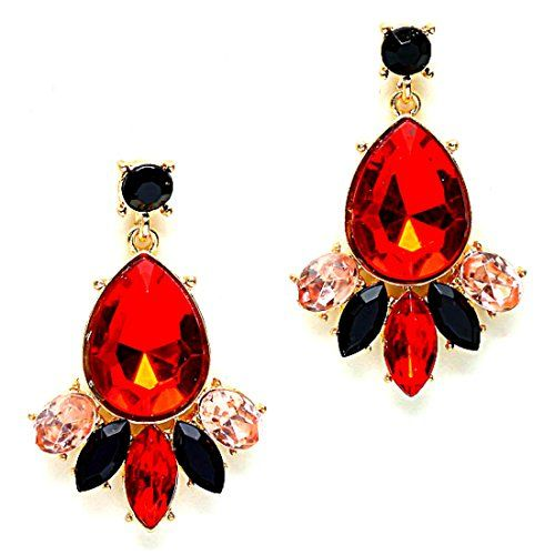 Pop urban chic sexy red black glass crystal chandelier gold pop urban chic sexy red black glass crystal chandelier gold chandelier earrings uniklook jewelry http aloadofball Choice Image