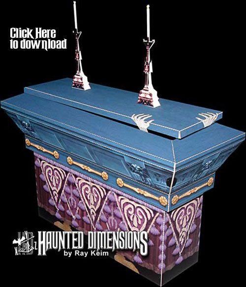 Conservatory Coffin Paper Model Kit Halloween Pinterest Paper