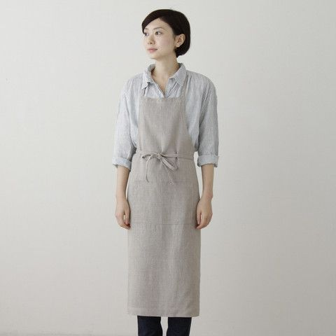 Full Apron Natural with Stamp natural Home Sweet Home