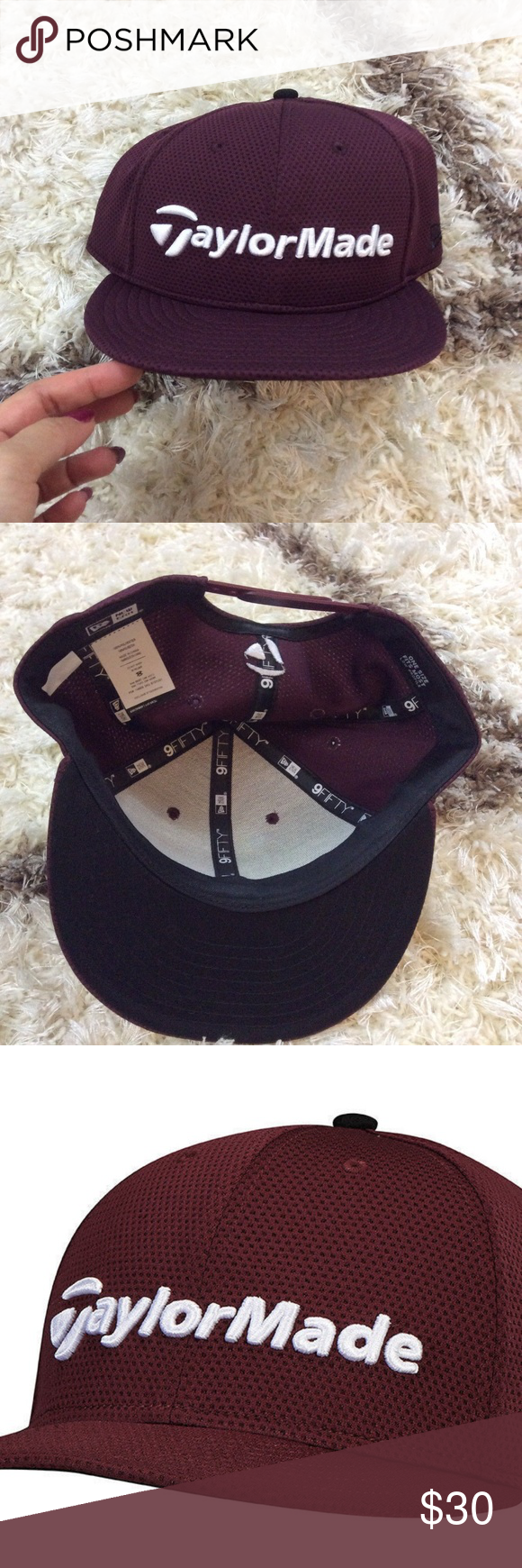 9d8fa1c36d8 TAYLOR MADE Burgundy Maroon Taylor Made Hat NWT
