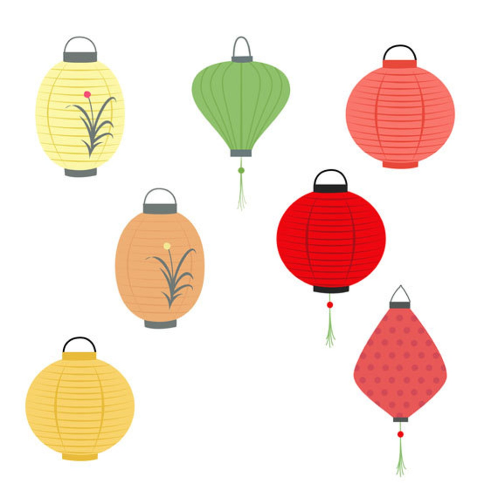 Chinese Lanterns Clip Art Collection, Festival, Design ...