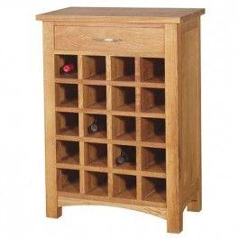 Brooklyn Oak Wine Rack With Drawer Oak Wine Rack Oak Furniture