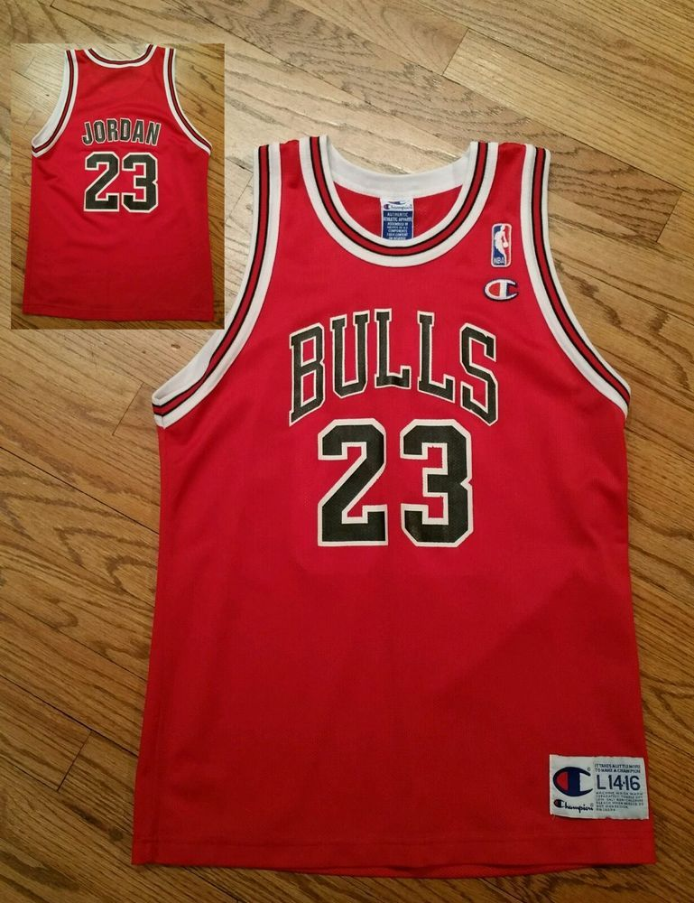 wholesale dealer 7b62c a940d Vintage Chicago Bulls Michael Jordan  23 Champion Basketball Jersey-Youth  Large  Champion  ChicagoBulls