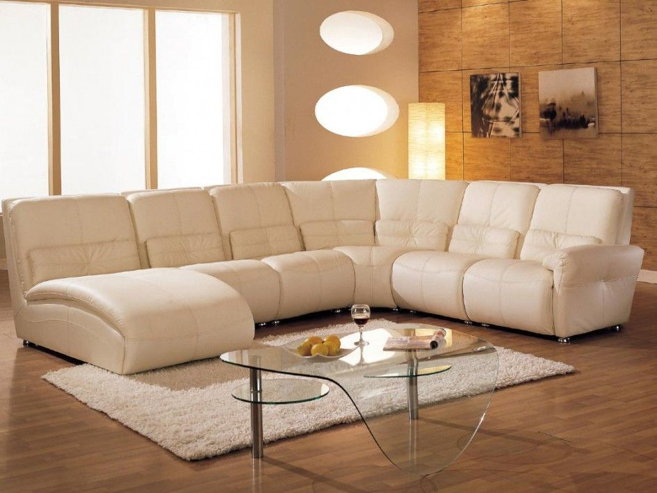 Furniture Modern Comfortable Living Room Sofa With Chaise And Unique Glass  Coffee Table The Attractive Sofa
