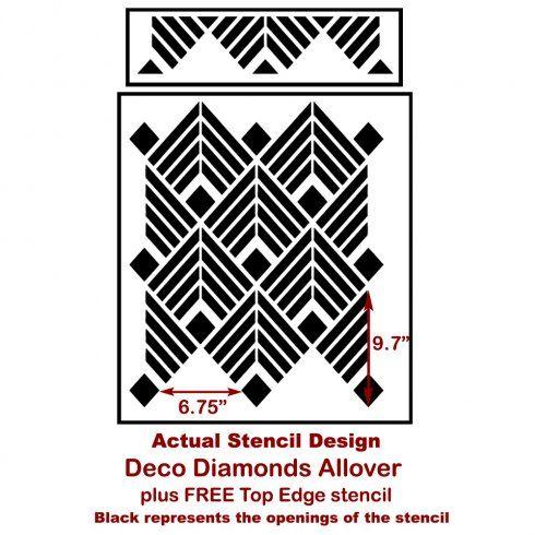 Deco Diamonds Allover Stencil