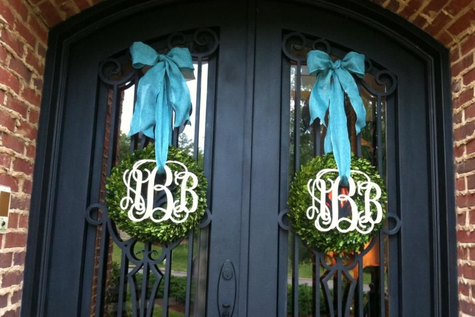 double front door decorations | Indoor Use Only: 1/4 ...