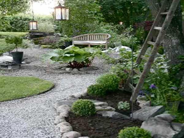 Comment aménager un jardin zen ? English gardens and Gardens - banc en pierre pour jardin
