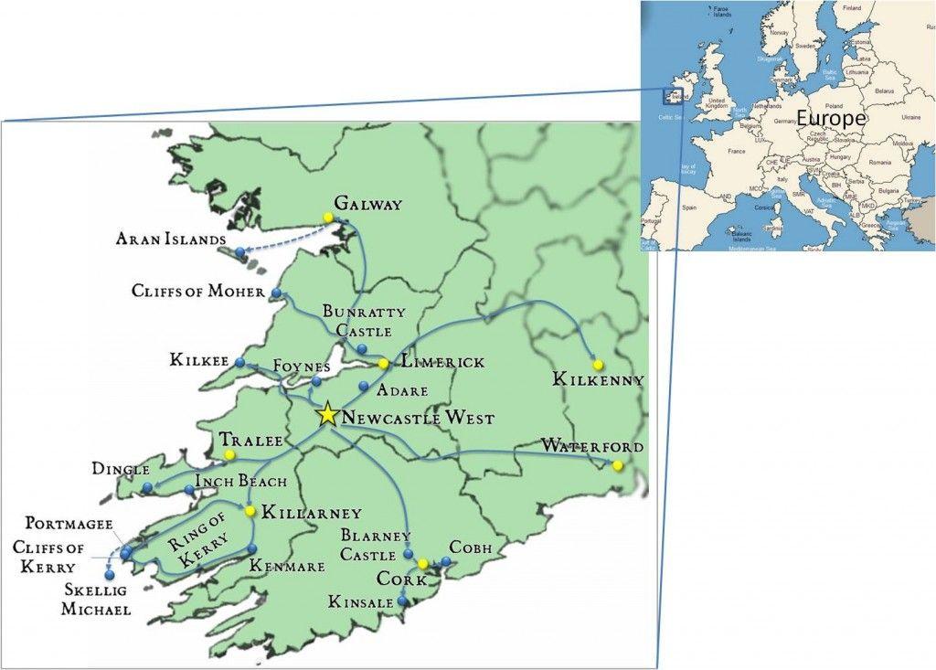 Newcastle West Ireland An Irish Travel Gem Map Pinterest