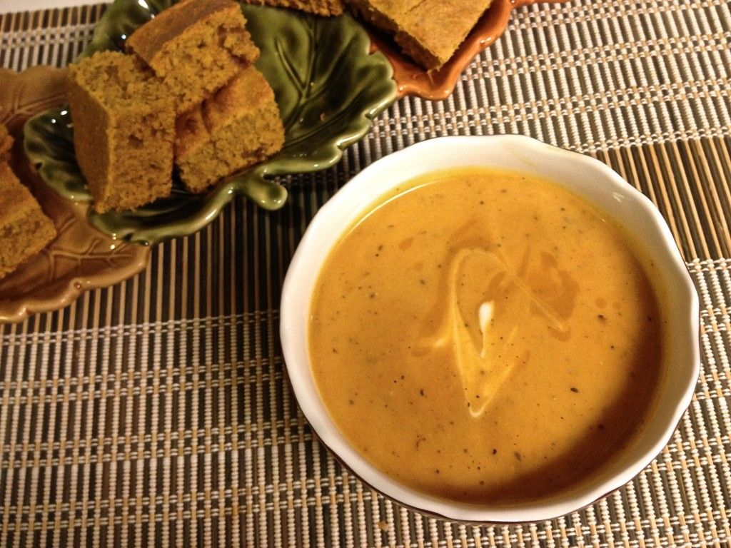 Roasted Red Pepper and Butternut Squash Soup - Really great combo of flavors!